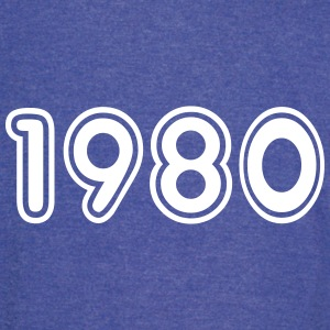 1980, Numbers, Year, Year Of Birth T-Shirts - Vintage Sport T-Shirt