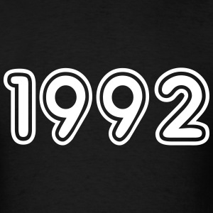 1992, Numbers, Year, Year Of Birth T-Shirts - Men's T-Shirt
