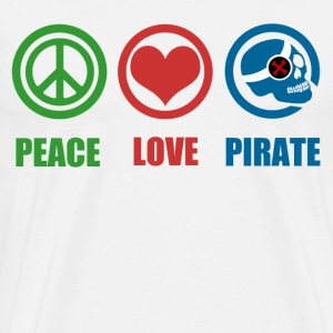 PEACE LOVE PIRATE - Men's Premium T-Shirt