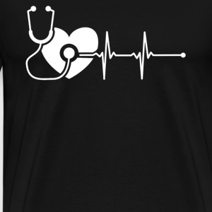 Nurse Heartbeat Shirt - Men's Premium T-Shirt