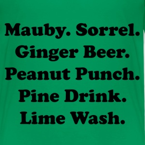 Caribbean drinks tee in green! - Toddler Premium T-Shirt