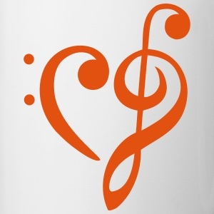 heart - clef Mugs & Drinkware - Contrast Coffee Mug