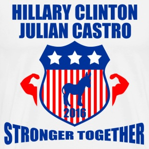 CLINTON CASTRO STRONGER TOGETHER - Men's Premium T-Shirt