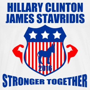 CLINTON STAVRIDIS STRONGER TOGETHER - Men's Premium T-Shirt