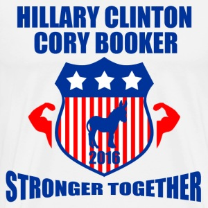CLINTON BOOKER STRONGER TOGETHER - Men's Premium T-Shirt