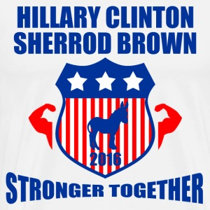 CLINTON BROWN STRONGER TOGETHER - Men's Premium T-Shirt