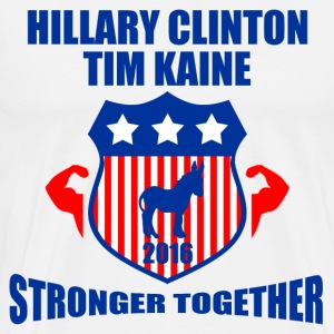 CLINTON KAINE STRONGER TOGETHER - Men's Premium T-Shirt