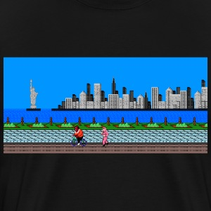 Punch Out Manhattan Scene - Men's Premium T-Shirt