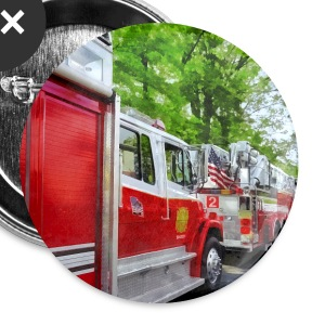 Long Line of Fire Trucks Buttons - Large Buttons