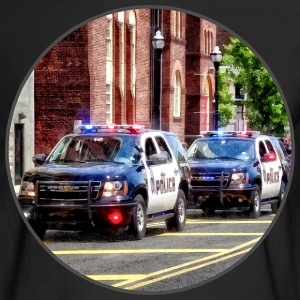 Line of Police Cars Long Sleeve Shirts - Men's Long Sleeve T-Shirt
