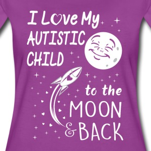 I love my autistic child to the moon back - Women's Premium T-Shirt