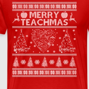 Gift for Math teacher - Merry Teachmas - Men's Premium T-Shirt