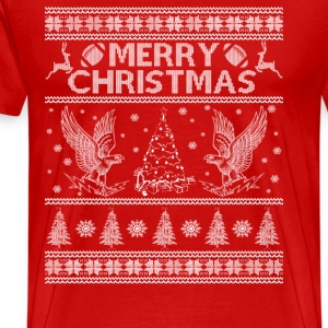 Air force falcon - Awesome Christmas football tee - Men's Premium T-Shirt