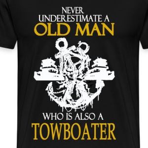 Towboater - Never underestima old towboater - Men's Premium T-Shirt