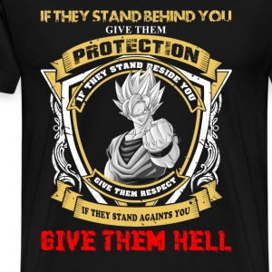 Goku - If they stand against you give them hell - Men's Premium T-Shirt