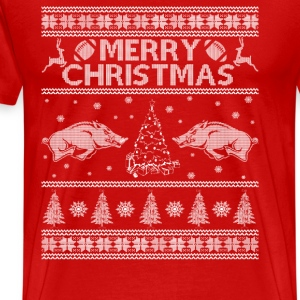 arkansas razorback - Awesome Christmas football t - Men's Premium T-Shirt