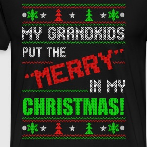 Grandparents - My grandkids put the merry t-shir - Men's Premium T-Shirt