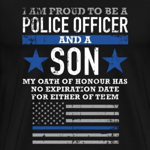 Police officer - I'm proud to me a police officer - Men's Premium T-Shirt