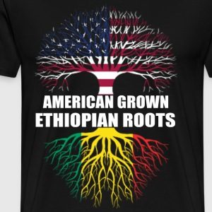 Ethiopian roots - Grown in american t-shirt - Men's Premium T-Shirt