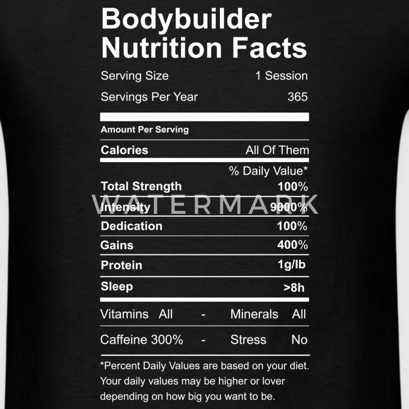 Bodubuilder Nutrition Facts - Men's T-Shirt