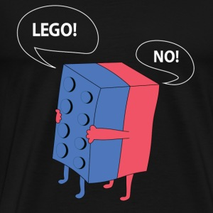 Cute lego talking t-shirt for lego lovers - Men's Premium T-Shirt