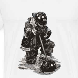 Sad Firefighter t-shirt for supporter - Men's Premium T-Shirt