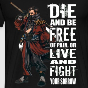 Final Fantasy - Die and be free of pain t-shirt - Men's Premium T-Shirt
