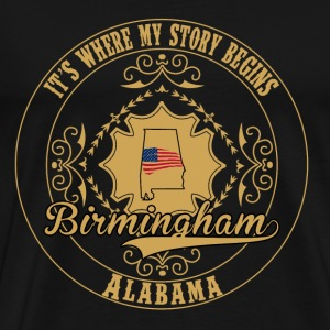 Birmingham - It's where my story begins t-shirt - Men's Premium T-Shirt