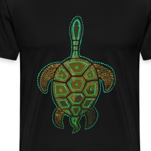 Tribal turtle - Awesome t-shirt for turtle lover - Men's Premium T-Shirt