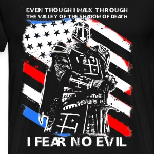 Cusader - I fear no evil t-shirt for american - Men's Premium T-Shirt
