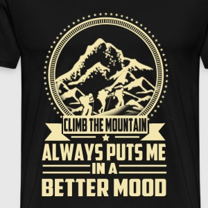 Climbing - Always puts me in a better mood t-shi - Men's Premium T-Shirt