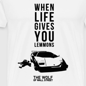 The wolf of wall street - Awesome t-shirt for fa - Men's Premium T-Shirt