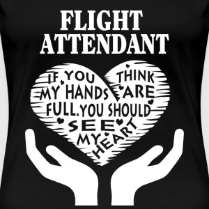 Flight attendant - You should see my heart t-shi - Women's Premium T-Shirt