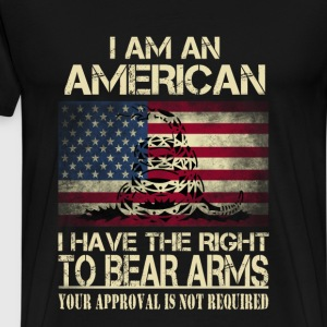 American - I have the right to bear arms t-shirt - Men's Premium T-Shirt
