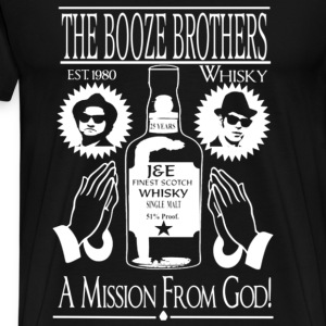Whiskey - The booze brothers est 1980 t-shirt - Men's Premium T-Shirt