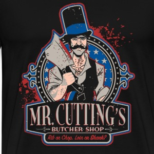 Butcher - Mr.cutting's butcher shop t-shirt - Men's Premium T-Shirt