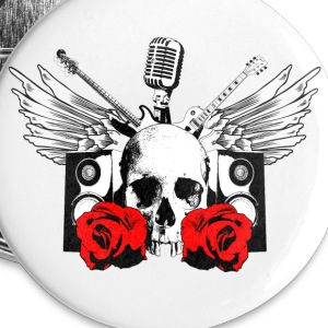 Undead Hard Rock Roll Buttons - Small Buttons