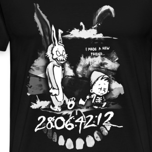 Donnie Darko - I made a new friend t-shirt for f - Men's Premium T-Shirt