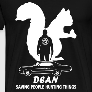 Dean supernatural Saving people and hunting things - Men's Premium T-Shirt