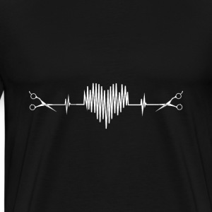Hairdresser - Awesome hairstylist heartbeat Tshirt - Men's Premium T-Shirt