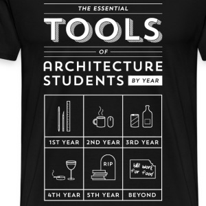 Architecture students - Their essential tools tee - Men's Premium T-Shirt