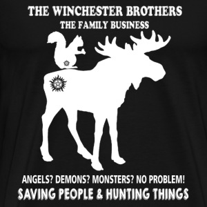 Hunting - The Winchester brothers hunting things - Men's Premium T-Shirt
