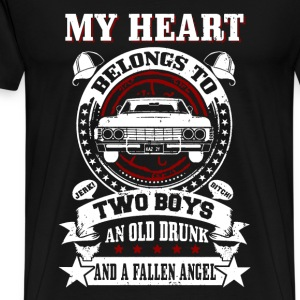 My heart belongs to: Two boys An old drunk And... - Men's Premium T-Shirt