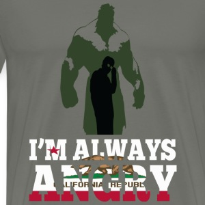 California republic - I'm always angry - Men's Premium T-Shirt