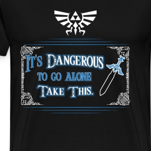 The Legend of Zelda - It's dangerous to go alone - Men's Premium T-Shirt