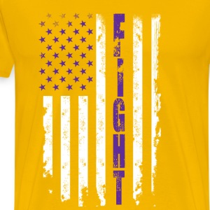 Fight against cancer - American flag - Men's Premium T-Shirt