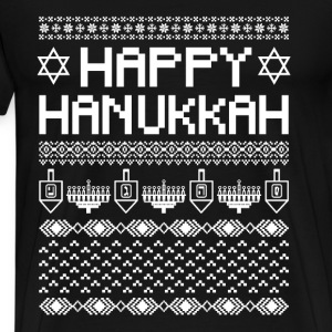 Happy Hanukkah - Jewish holiday - Men's Premium T-Shirt