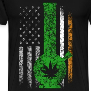 Irish flag with marijuana t-shirt - Men's Premium T-Shirt
