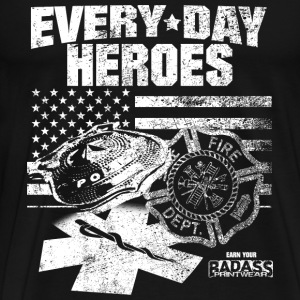 Fire department - Everyday heroes - Men's Premium T-Shirt