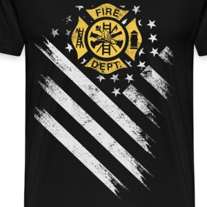 American firefighter department flag - Men's Premium T-Shirt